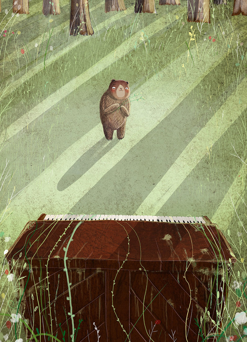 David Litchfield The bear and the piano