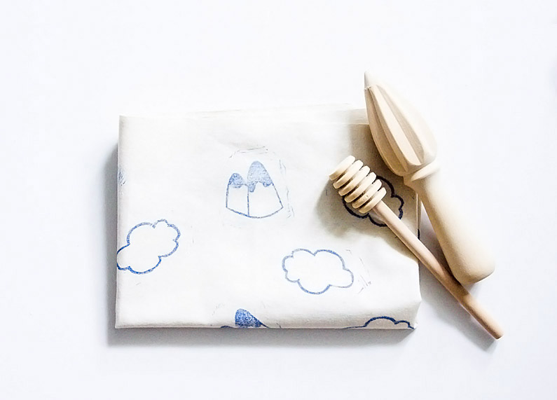 Mountain tea towel print DIY