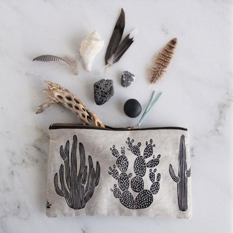 amelie mancini cactus pouch