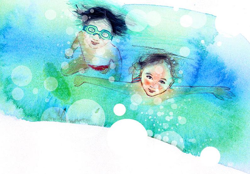 Monique-van-den-Hout_swimming-illustration