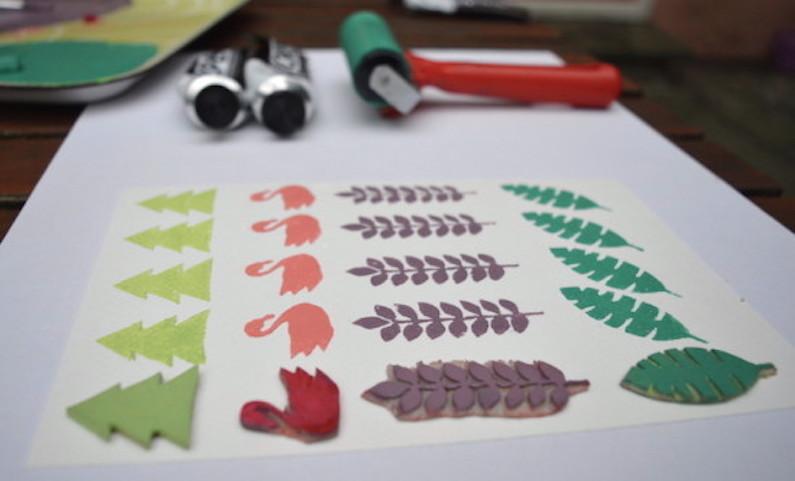 Sandra Apperloo.Linoprinting