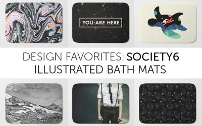 Society6: favorite bath mats