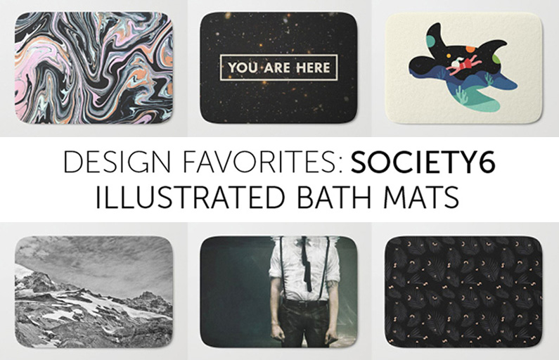 Society6: favorite bath mats